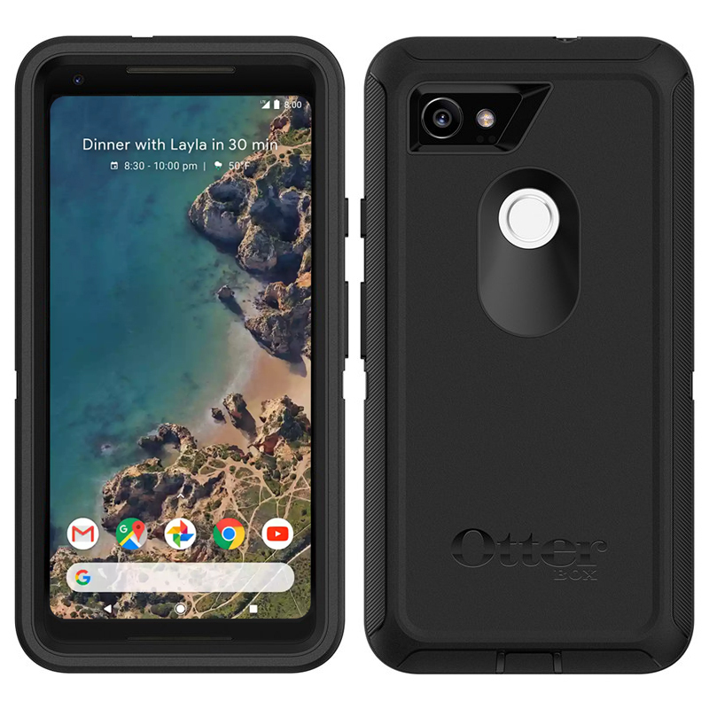 reputable site 215cc 7710d OtterBox Defender Case for Google Pixel 2 XL (Black)